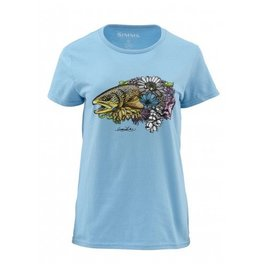 Women's Larko Brown trout Bouguet SS Tee