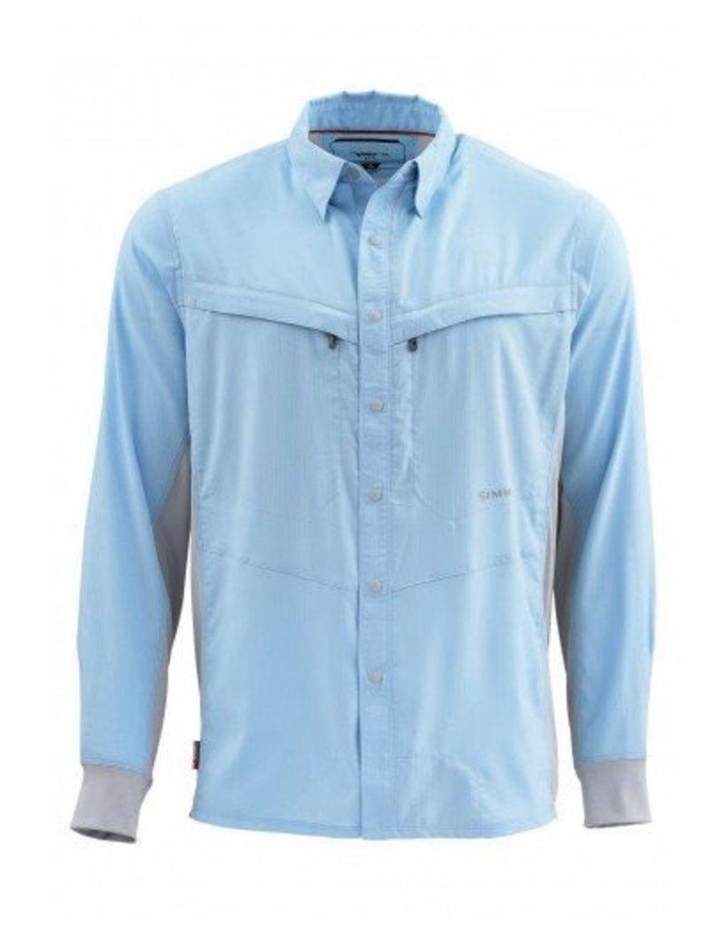 Simms Intruder Bicomp LS Shirt....Light Blue