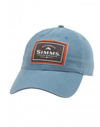 Simms Single Haul Cap 6 panel Twill Blue Stream
