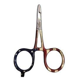 """MFC River Camo Forcep/Scissor 4"""" American Pride"""