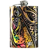 MFC Stainless Hip Flask Estrada's Rainbow Trout Graffiti