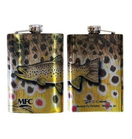 MFC Stainless Steel Hip Flask Currier Brown