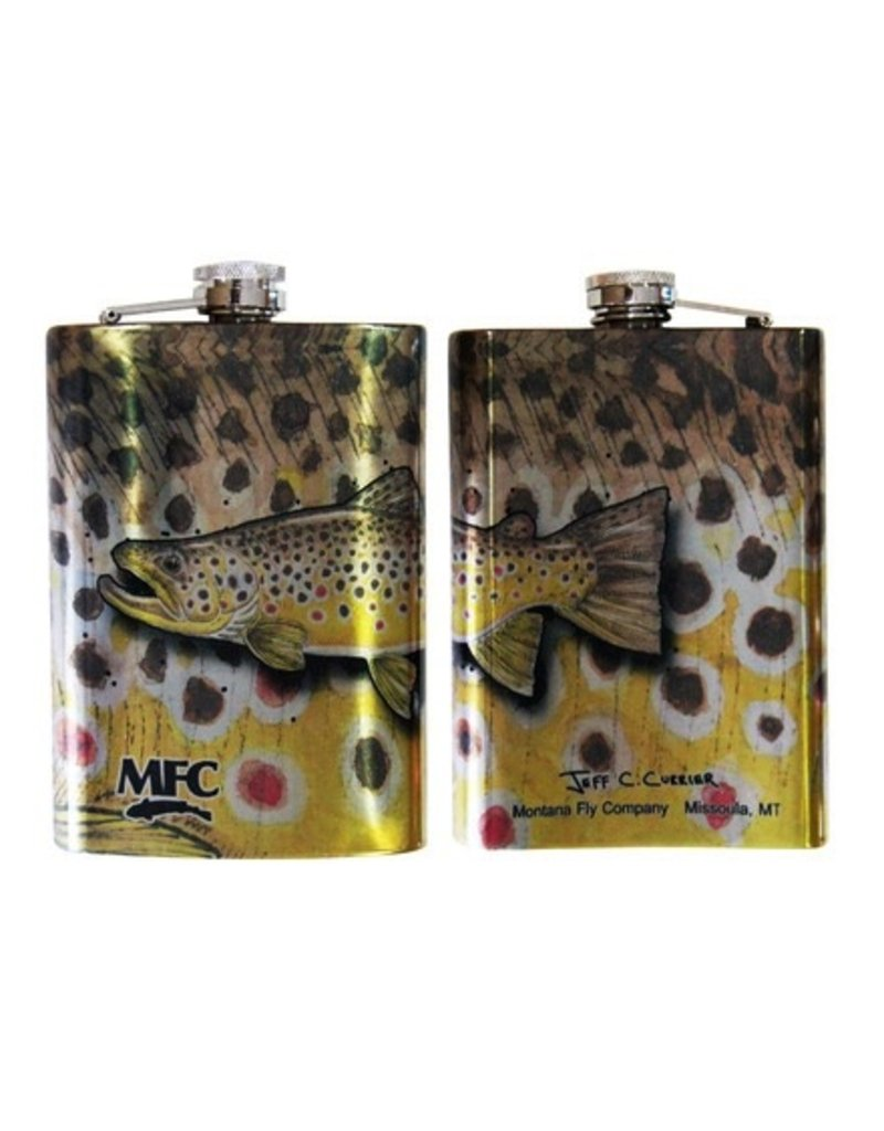 MFC Stainless Hip Flask Currier Brown Trout