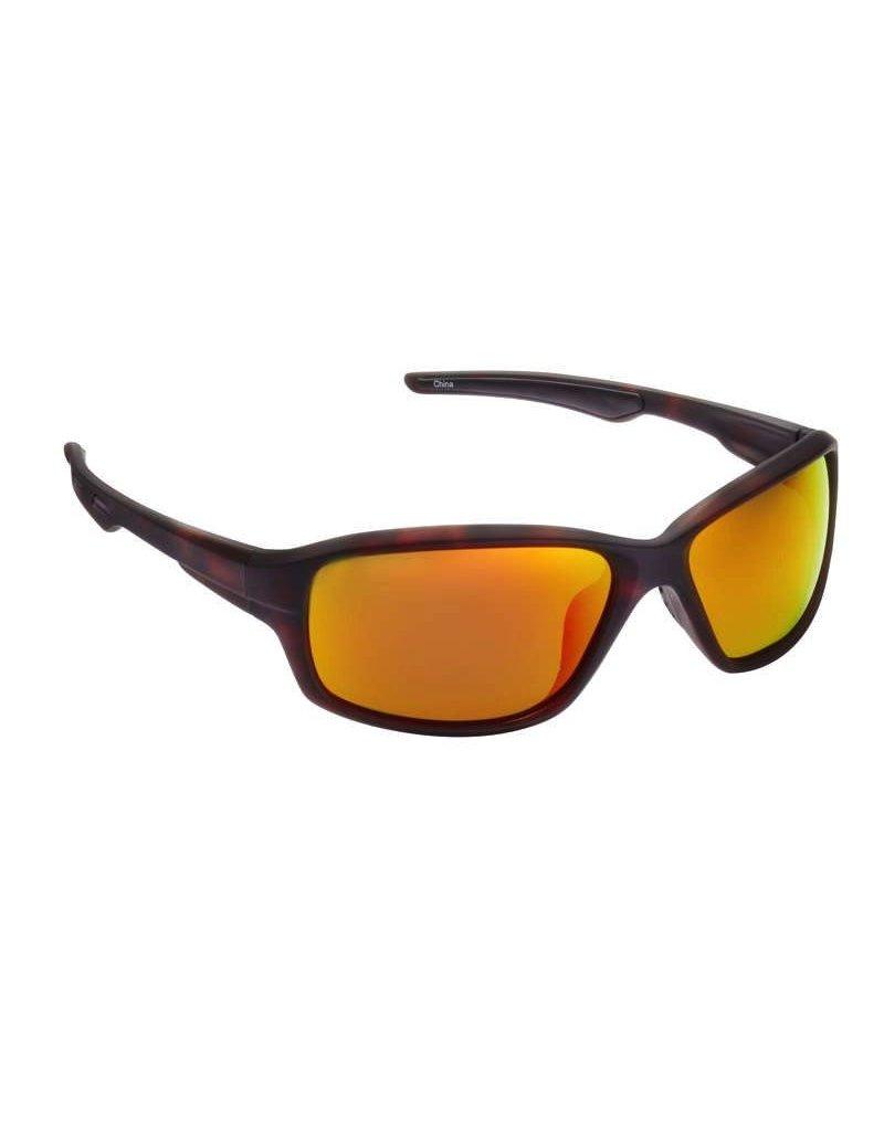 Fisherman Eyewear Dorado Matte Brown Tortoise/Red Mirror