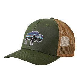 Patagonia Fitz Roy Bison Trucker Hat Buffalo Green