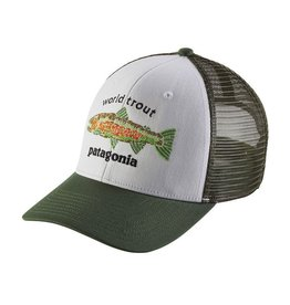 Patagonia World Trout Fishstitch Trucker White