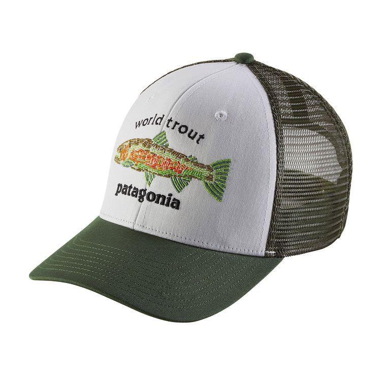 Patagonia World Trout Fishstitch Trucker White