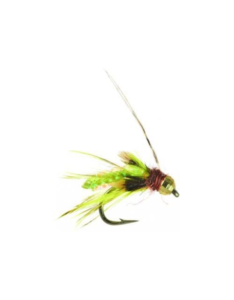 Silvery's Tungsten Bead Caddis Pupa Olive (3 Pack) 16