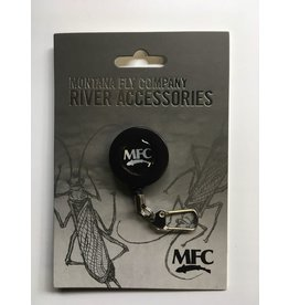 Montana Fly Company Black Pin-On Ziner with Nylon coated steel wire cord.