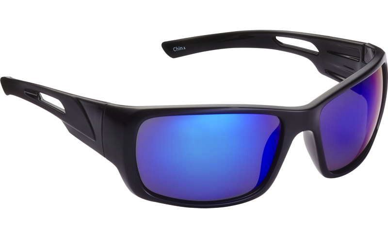 Fisherman Eyewear Hazard Shiney Black/Blue Mirror