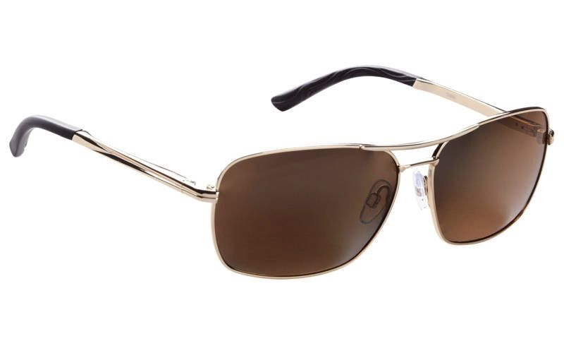 Fisherman Eyewear Chinook Shiny Gold Metal/Brown