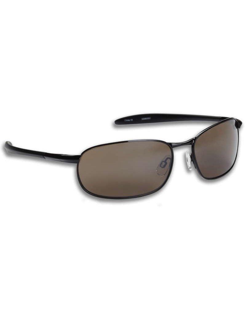 Fisherman Eyewear Blacktip Black Metal/Brown