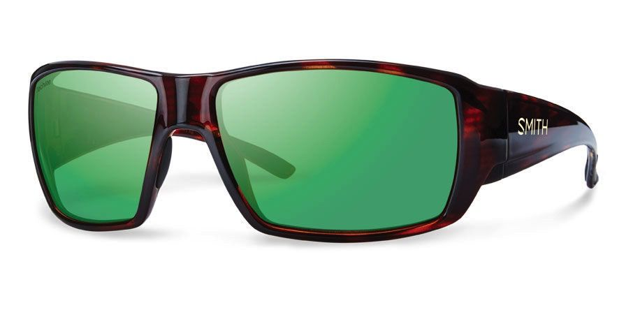 Smith Guide's Choice Techlite Polarized Green Mirror/ Havana