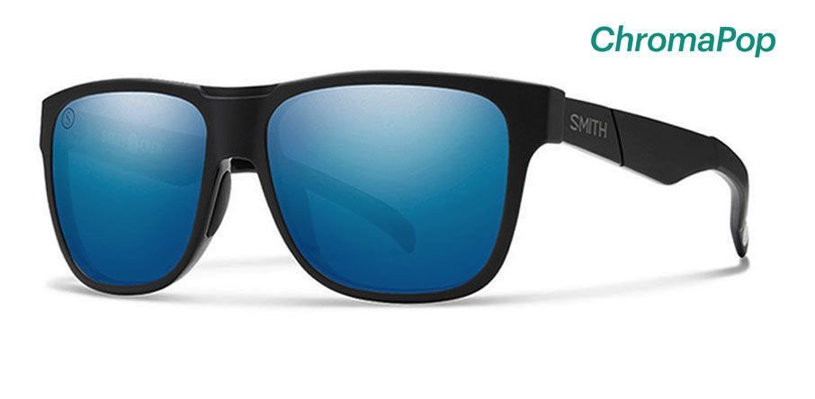 Smith Lowdown Salth Crew Matte Black/Polarized Blue Mirror