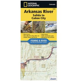 Nat Geo Arkansas River Map (Detailed) Salida through Canon City