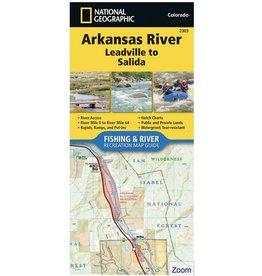 Arkansas River Map (Detailed) Leadville to Salida
