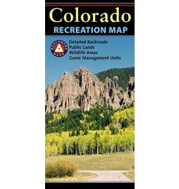 Benchmark Maps Colorado Recreation Map