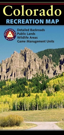 Benchmark Maps Colorado Recreation Map - Royal Gorge Anglers