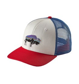 Patagonia Fitz Roy Bison Trucker Hat white/fire