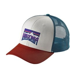 Patagonia Fitz Roy Frostbite Trucker Hat White w/Roots Red