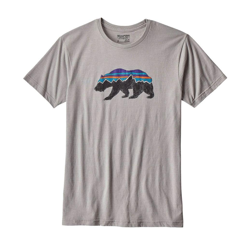 Patagonia Men's Fitz Roy Bear Cotton/Poly T-Shirt Drifter Grey