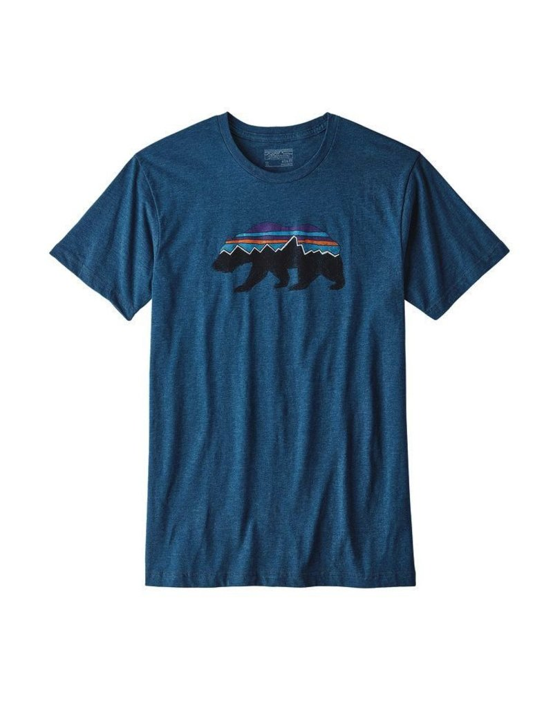 Patagonia Men's Fitz roy Bear Cotton/Poly T-Shirt