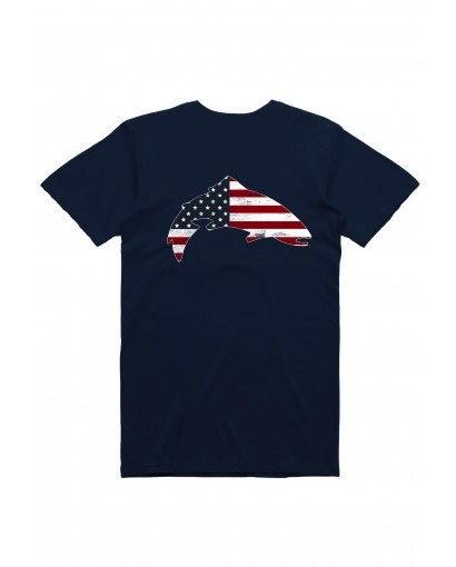Simms Trout USA T Shirt……Admiral Blue