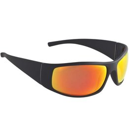 Fisherman Eyewear Bluefin Matte Black/Red Mirror