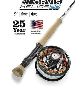 Orvis Helios 3D 9ft 6wt Outfit
