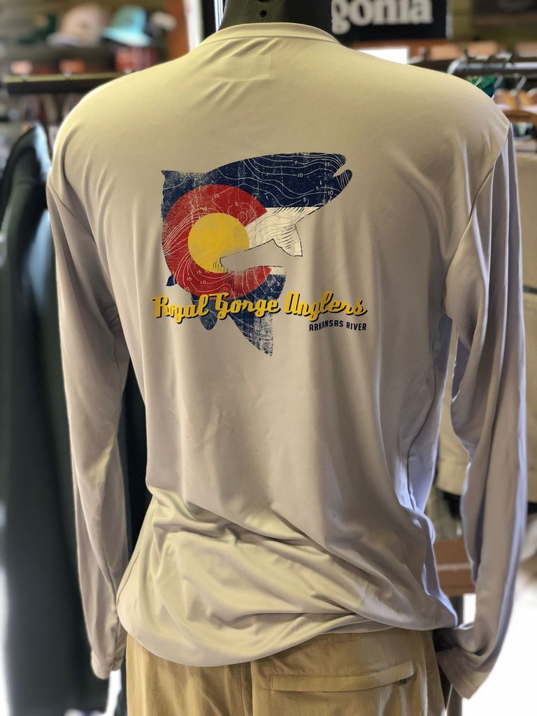 The awesome Topo Trout on a long sleeve performance shirt!