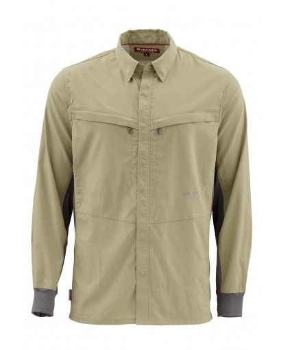 Simms Intruder Bicomp LS Shirt....Light Blue