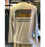 Patagonia M's Graphic Tech Fish Tee Logo: Royal Gorge Anglers