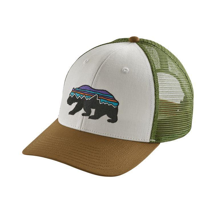 Patagonia Fitz Roy Bear Trucker Hat White w/Coriander