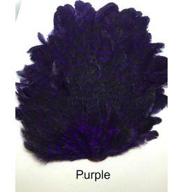 MFC Barred Saddle Hackle Purple/Black