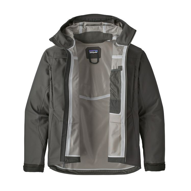 The River Salt Jacket is Pataognia's toughest and most durable fishing shell, made with rugged, 4-layer waterproof/breathable H2No® Performance Standard wader fabric for the most challenging conditions.