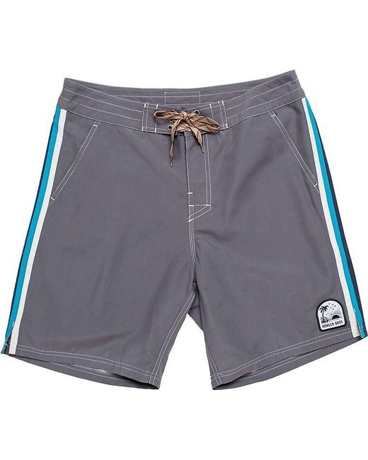 Howler Chandler Old School Board Shorts  Grey w/Stripe
