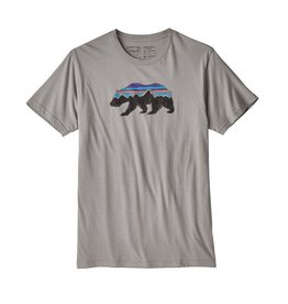 Patagonia Men's Fitz Roy Bear Organic Cotton T-Shirt Feather Grey