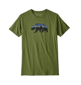 Patagonia Men's Fitz Roy Bear Organic Cotton T-Shirt Sprouted Green