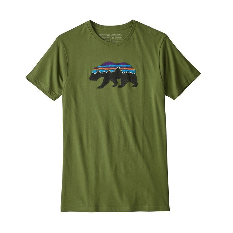 Patagonia Men's Fitz Roy Bear Organic Cotton T-Shirt Sprouted