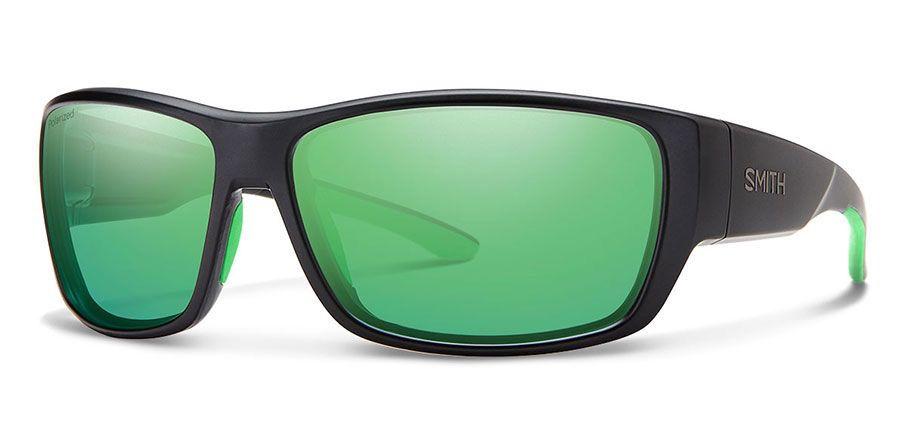 Smith Forge Matte Black/Polarized Green Mirror