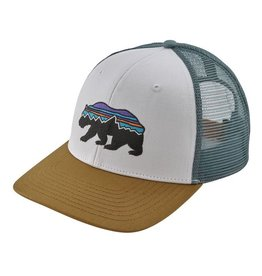 Patagonia Fitz Roy Bear Trucker Hat White w/Kastanos Brown