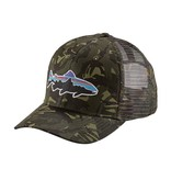 Patagonia Fitz Roy Trout Trucker Hat Big Camo: Fatigue Green RGA Branded