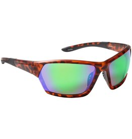 Fisherman Eyewear Breeze Soft Touch Matte Tortoise Brown/Green Mirror