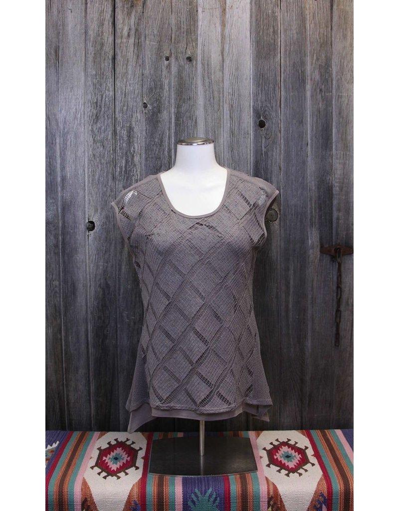 Picadilly Crochet Overlay Top +