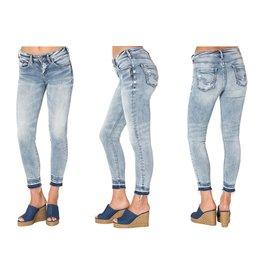 Silver Jeans Co Avery Raw Hem Ankle Skinny