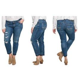 Silver Jeans Co Sam Raw Hem Boyfriend +