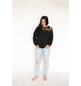 Buttercream lace sweatshirt