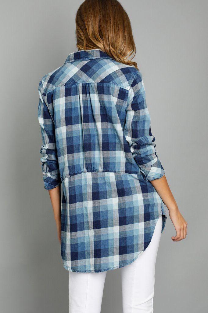 Mododoc Plaid Pocket Tunic