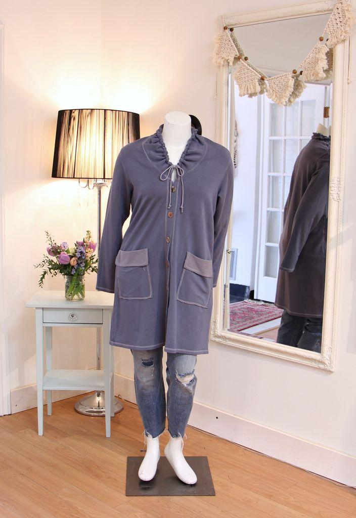 Drawstring Cowl Coat