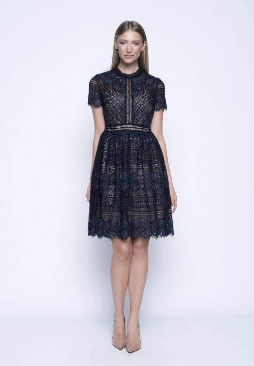 Lace Overlay Dress